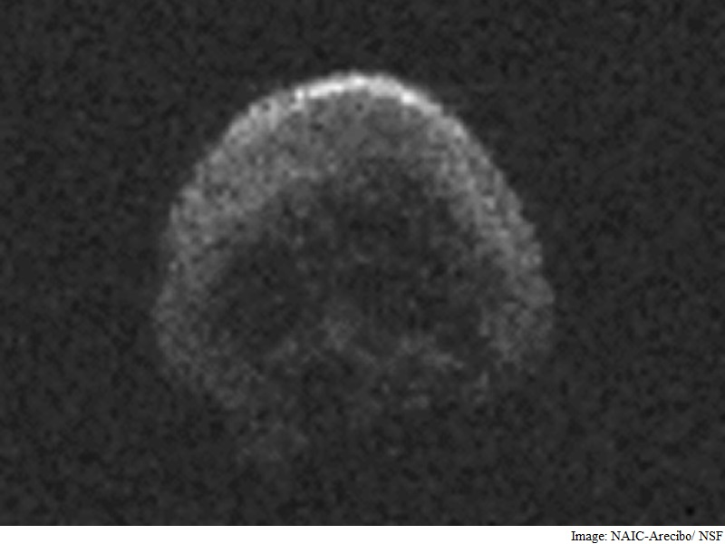 Skull Face Dead Comet to Hurtle by Earth on Halloween