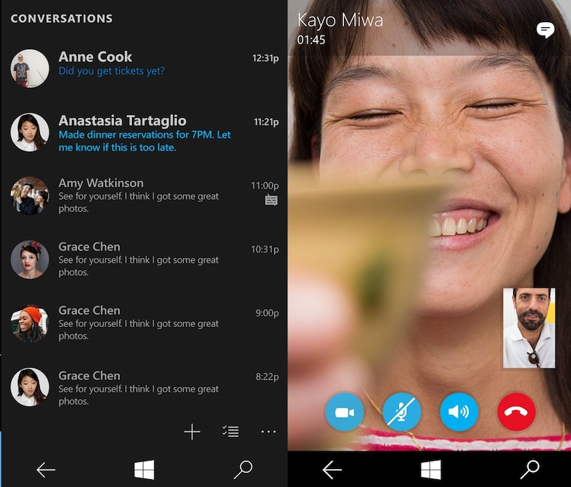 Skype Messaging Beta for Windows 10 Mobile Quietly Released