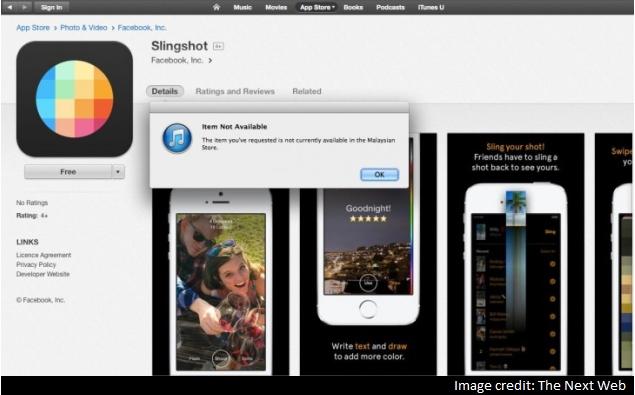 Facebook's Ephemeral Messaging App Slingshot Briefly Listed on App Store