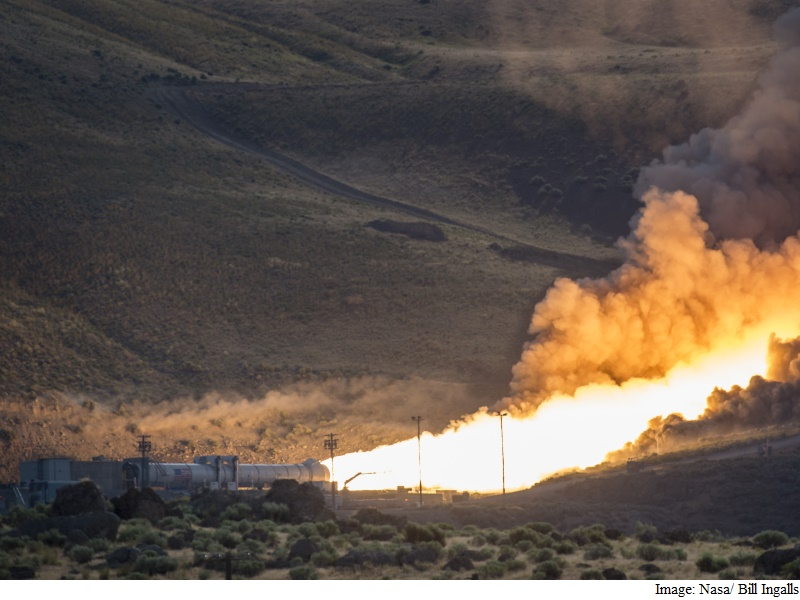Nasa Test Fires Booster Rocket Intended to Hoist Astronauts Into True Outer Space