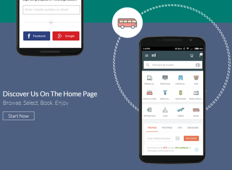 Snapdeal Now a Services Marketplace Too, With Flights, Food, Bus Tickets, and More