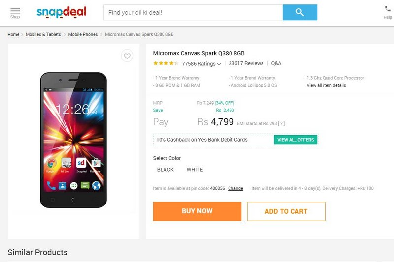 snapdeal_sale_micromax_canvasspark.jpg