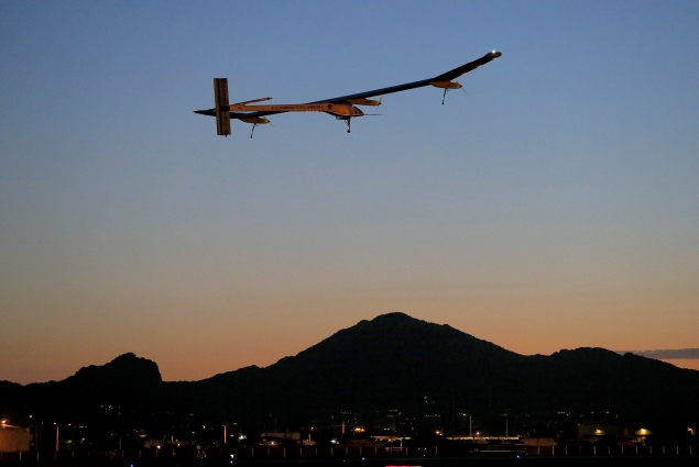 Solar-powered airplane to end US journey