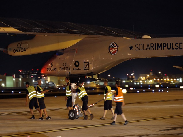 Solar-Powered Plane Takes Off in First Round-the-World Attempt