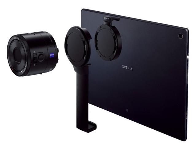 Sony DSC-QX100, DSC-QX10 lens cameras to get tablet attachment in April