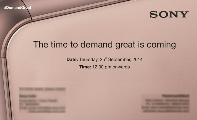 Sony Xperia Z3, Xperia Z3 Compact India Launch Expected at September 25 Event