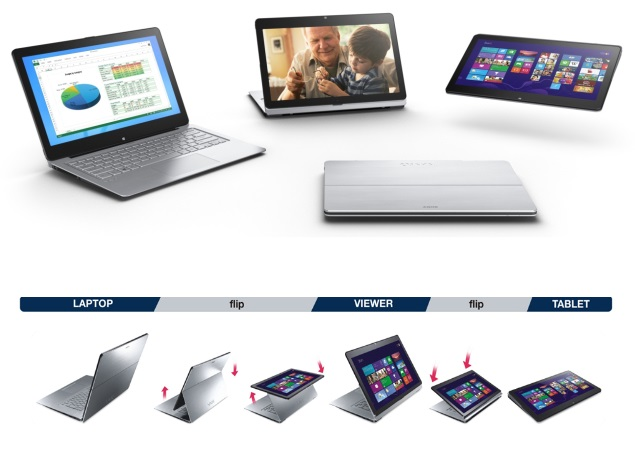 Sony Vaio Flip hybrid laptops launched in 13, 14 and 15 inch sizes