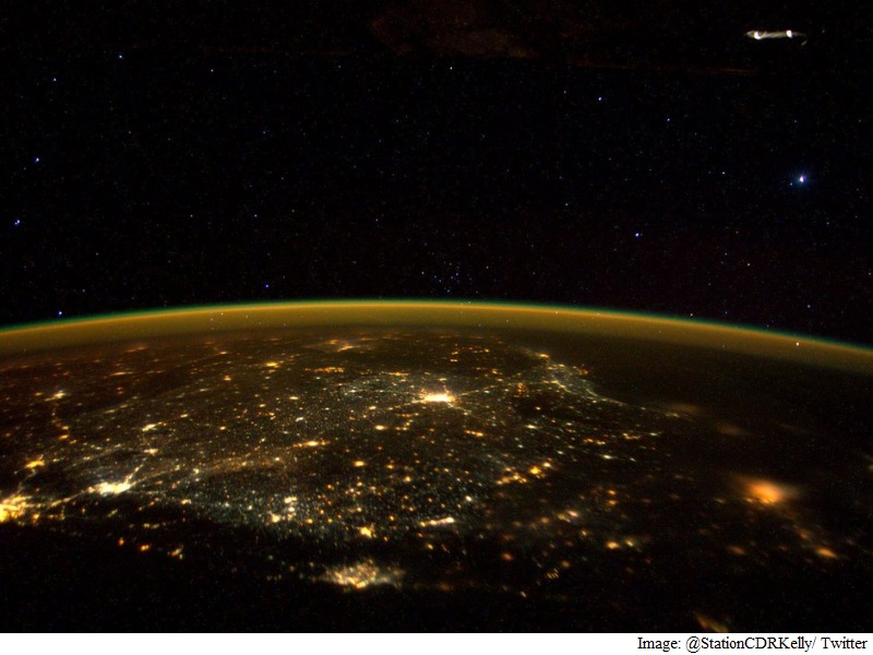 ISS Astronaut Scott Kelly Tweets Images of South India
