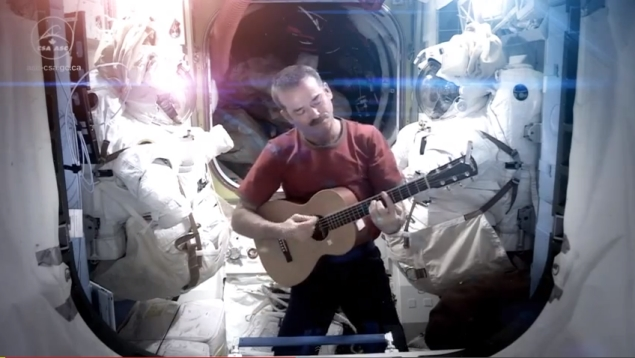 International Space Station Commander Chris Hadfield makes first space music video