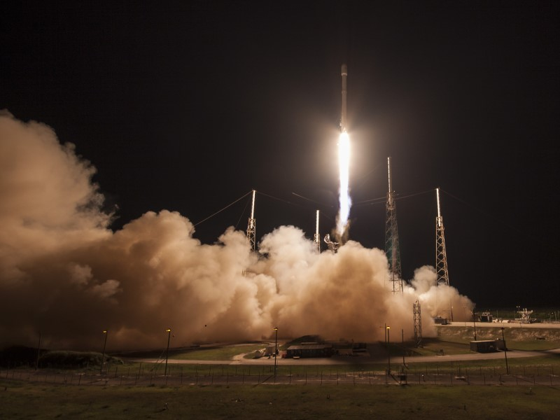 SpaceX Successfully Lands Rockets First Stage After Space Launch