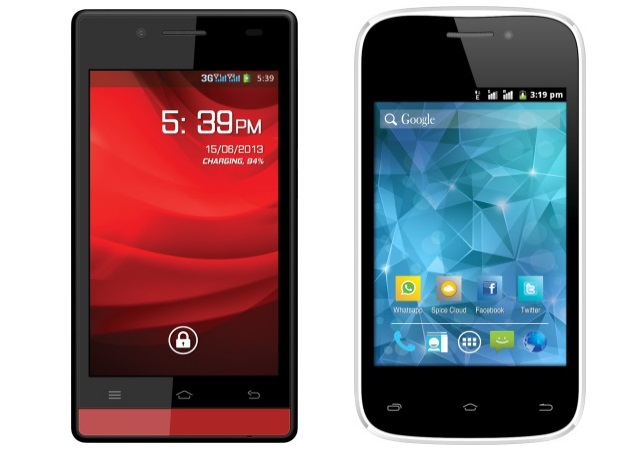 Spice Stellar Glamour and Smart Flo Space with Android 4.2 launched