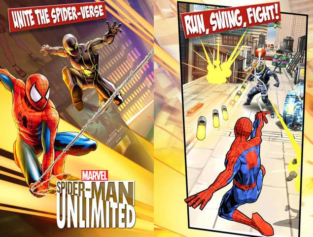 Spider-Man Unlimited Now Available for Android, iOS and Windows Phone