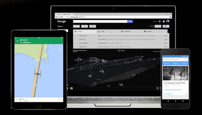 Google Star Wars Customisations Present a Choice: Light or Dark Side