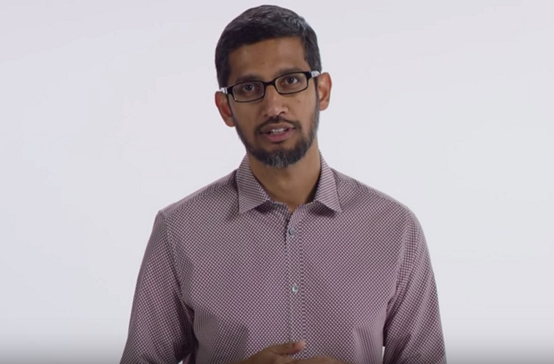 Google CEO Sundar Pichai Meets With EU Antitrust Chief