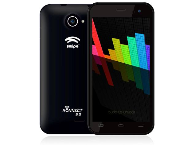 Swipe Konnect 5.0 With 5-inch Display, Quad-Core Processor Launched at Rs. 8,999