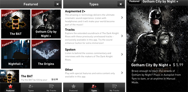 The Dark Knight Rises Z+ app gets improved UI, social networking integration
