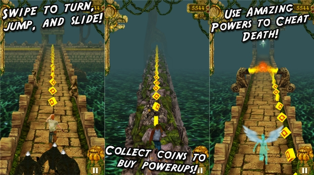 Temple Run for Windows Phone 8 updated to work on devices with 512MB