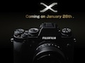 Fujifilm teaser reveals new X-mount camera set for January 28 unveiling