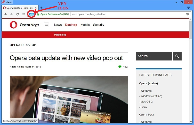 Opera Is Bundling a Free VPN With Its Browser on Windows and