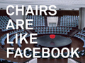 """Chairs are like Facebook"", says first brand ad"