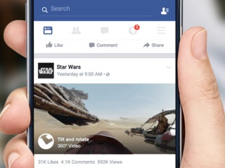 Facebook Adds 360-Degree Video to News Feed