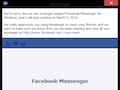 Facebook Messenger for Windows and Firefox shutting down on March 3