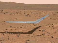 Nasa Unveils Boomerang-Shaped Aircraft to Fly on Mars