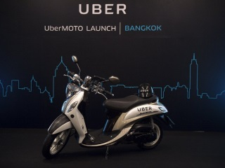 Uber Starts Bike Taxi Service in Bangkok