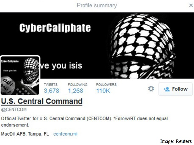 Pro-IS Hackers Take Over US Military Twitter Feed