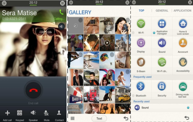 Samsung to reportedly launch first Tizen phone at MWC 2014; UI screenshots leak