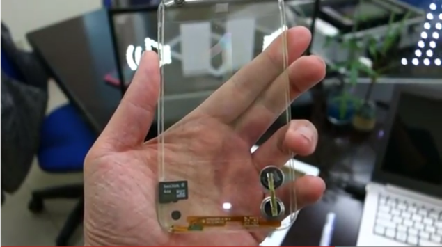 Transparent Mobile Phones Could Be A Reality By End Of