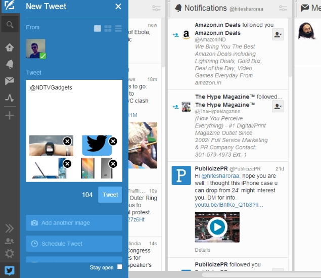 TweetDeck Now Allows Users to Embed Multiple Photos in Tweets