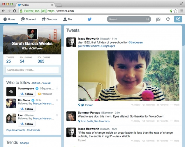 Twitter rolls out mobile app-inspired website redesign to all users