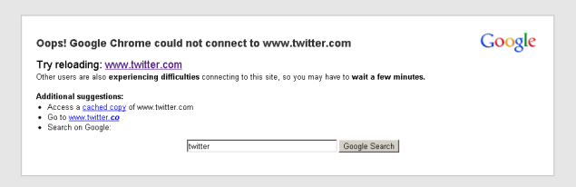 Twitter double outage blamed on bug