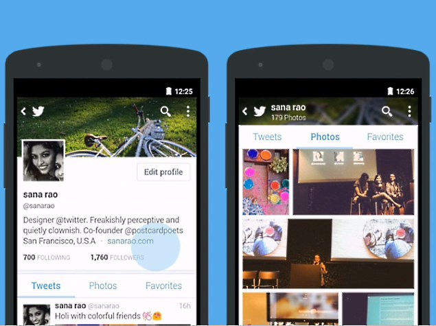 Twitter for Android Gets Revamped Profiles With Bigger