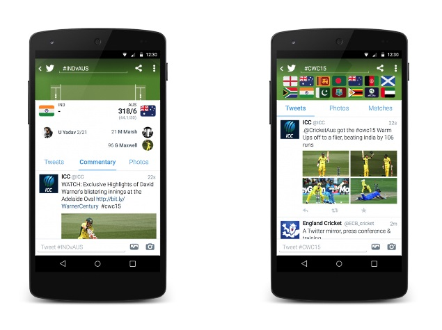 Twitter Launches Cricket World Cup 2015 Timeline