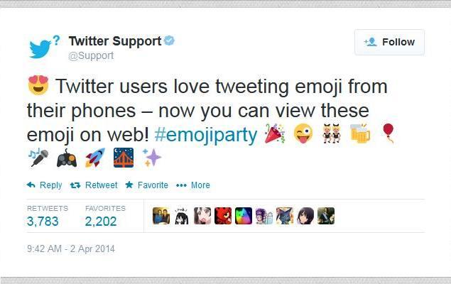 News Twitter: Twitter Now Displays Emoji Symbols In Web Interface