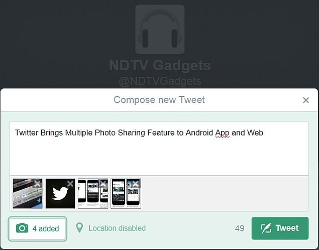 Twitter Brings Multiple Photo Sharing Feature to Android App and Web