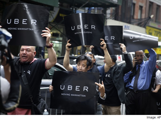 New York Mayor Calls for 'Pause' in Uber's Growth