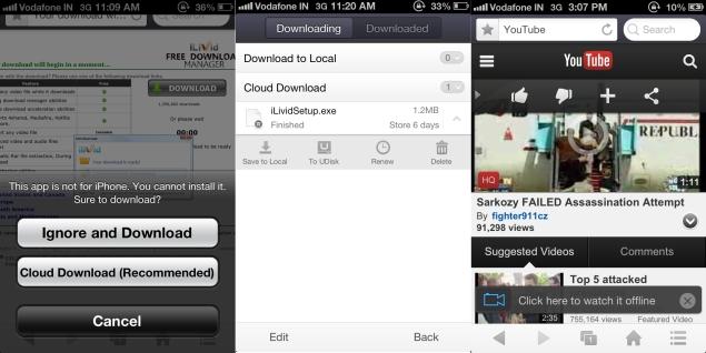 UC Browser now allows iOS users to download and store files