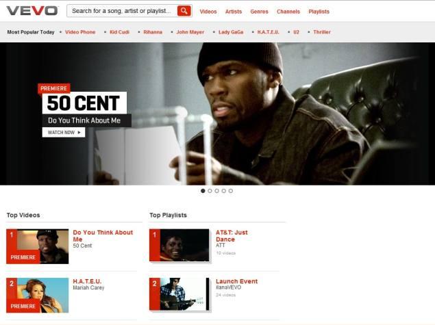Vevo online music video hub hits 6 billion monthly average views