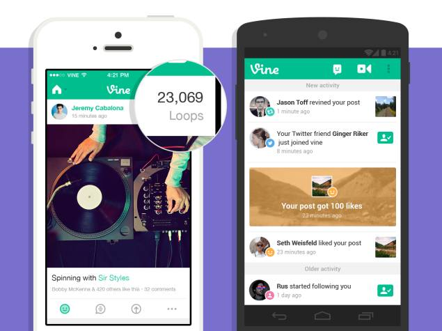 Vine Introduces Video Loop Counts, Redesigned Activity Feed and More