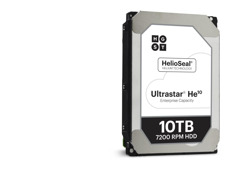 WD Announces 10TB Helium-Filled HGST Ultrastar He10 Hard Drive