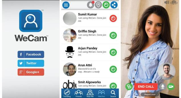 WeCam app lets you video chat with Twitter, Google+, Facebook friends