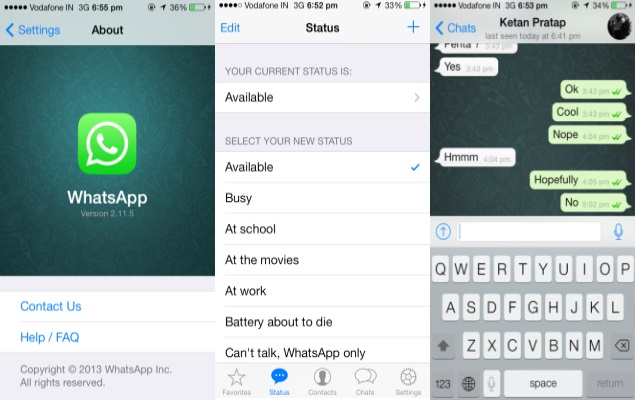 Whatsapp updated for iphone brings new ios 7 style ui and more whatsapp updated for iphone brings new ios 7 style ui and more technology news altavistaventures Choice Image