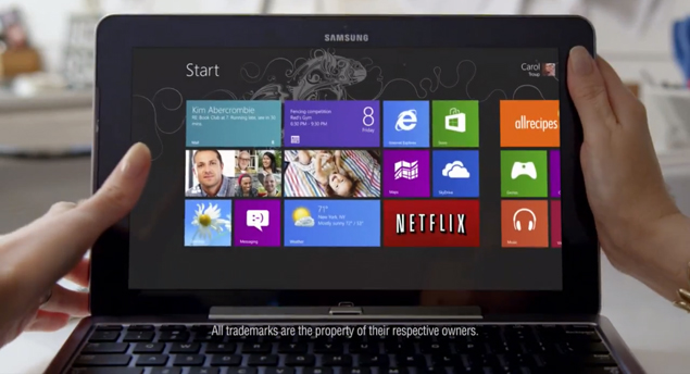 Microsoft's first Windows 8 commercial released