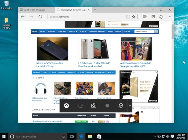 Windows 10 Comes With a Hidden Screen Recorder | Technology News