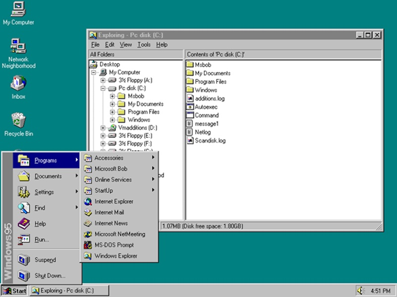 You can now run windows 95 on a web browser technology news for What is microsoft windows