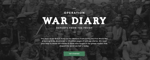Britain's World War I diaries go online, volunteers to help catalogue content