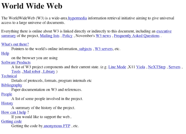 Twenty years on, efforts to re-create the first web page